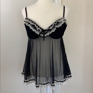 Jezebel XL flyaway babydoll lingerie slip